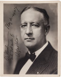 Autographs:Statesmen, Alfred Smith Signed Photograph....