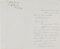 Autographs:Military Figures, William H. French Autograph Letter Signed....