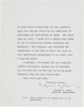Autographs:Non-American, Ambassador Joseph Grew Typed Letter Signed....