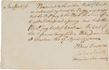 Autographs:Military Figures, [Revolutionary War]. Alexander Scammel Document ...