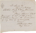Autographs:Military Figures, General Alfred Pleasonton Autographed Letter Signed...