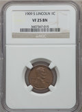 Lincoln Cents: , 1909-S 1C VF25 NGC. NGC Census: (132/865). PCGS Population(227/1457). Mintage: 1,825,000. Numismedia Wsl. Price for proble...