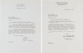 Autographs:Celebrities, [Watergate] Archibald Cox Typed Letter Signed.... (Total: 2 Items)
