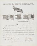 Autographs:Statesmen, [Civil War] Cassius M. Clay Document Signed....