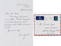 Autographs:Celebrities, Anna Freud Autograph Letter Signed....