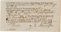 Autographs:Statesmen, Jabez Huntington Document Signed....