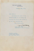 Autographs:Celebrities, Louis Howe Typed Letter Signed....