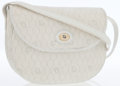 Luxury Accessories:Bags, Christian Dior White Monogram Coated Canvas & Leather FlapCrossbody Bag. ...