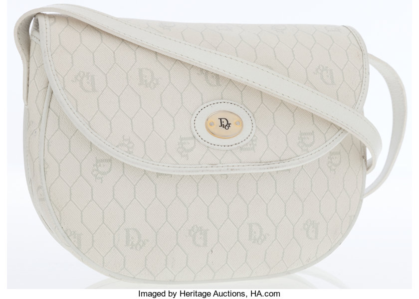 3aa7f35a33af Christian Dior White Monogram Coated Canvas   Leather