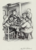 Mainstream Illustration, GARTH WILLIAMS (American, 1912-1996). The First Four Years (TheLittle House Series), group of six: page 20, 34, 99, 110, ...(Total: 6 Items)