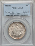 Commemorative Silver: , 1920 50C Maine MS63 PCGS. PCGS Population (667/2615). NGC Census:(332/2297). Mintage: 50,028. Numismedia Wsl. Price for pr...