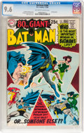 Silver Age (1956-1969):Superhero, Batman #208 (DC, 1969) CGC NM+ 9.6 Off-white to white pages....