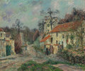 Paintings, GUSTAVE LOISEAU (French, 1865-1935). Paysage d'Hiver à Chaponval, 1908. Oil on canvas. 21-1/4 x 25-1/2 inches (54.0 x 64...