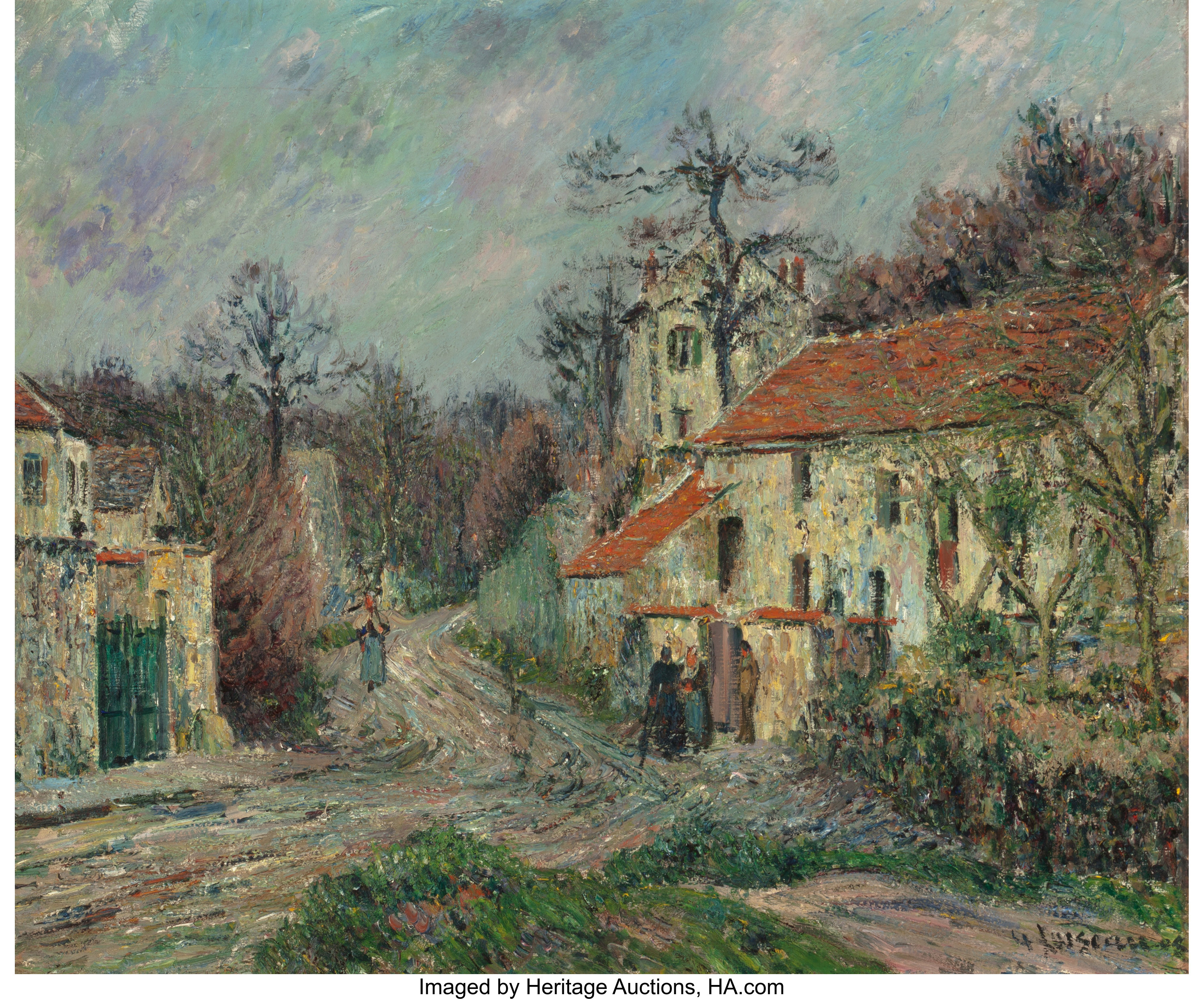Gustave Loiseau French 1865 1935 Paysage D Hiver A Chaponval Lot 63051 Heritage Auctions