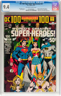 Bronze Age (1970-1979):Superhero, DC 100-Page Super Spectacular #6 World's Greatest Super-Heroes (DC, 1971) CGC NM 9.4 Off-white to white pages....