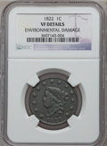Large Cents: , 1822 1C -- Environmental Damage -- NGC Details. VF. NGC Census:(5/156). PCGS Population (12/148). Mintage: 2,072,339. Numi...