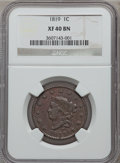 Large Cents: , 1819 1C Large Date XF40 NGC. NGC Census: (12/228). PCGS Population(8/111). Mintage: 2,671,000. Numismedia Wsl. Price for p...