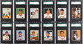Baseball Cards:Lots, 1950 Bowman Baseball SGC Graded Collection (25)....