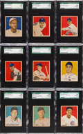 Baseball Cards:Lots, 1949 Bowman Baseball Low Numbers SGC 92 NM/MT+ 8.5 Collection(18)....