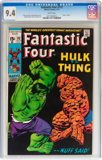 Fantastic Four #112 (Marvel, 1971) CGC NM 9.4 White pages