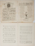 """Books:Prints & Leaves, [Black Americana] Two Examples of Sheet Music With African-AmericanThemes, Circa Mid-Nineteenth Century. Approximately 10"""" ..."""