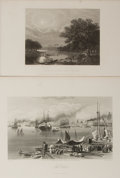 "Books:Prints & Leaves, [Louisiana] Two Superb Vintage Engraved Illustrations of New Orleans and Louisiana. 10.5"" x 6.5"" and 12.5"" x 8.75"". Some ton..."