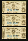 Obsoletes By State:Alabama, Montgomery, AL- The State of Alabama 50¢ (3) Jan. 1, 1863 Cr. 4. ... (Total: 3 notes)