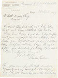 "Autographs:Celebrities, [James Garfield]. Charles Julius Guiteau Autograph Letter Signed""Charles J. Guiteau."" ..."