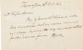 """Autographs:Military Figures, Henry Knox Autograph Document Signed """"H. Knox.""""..."""