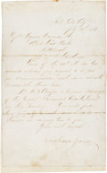 Autographs:Celebrities, Brigham Young Letter Signed....