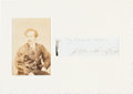 Autographs:Celebrities, John Wilkes Booth Clipped Signature with Accompanying Carte deVisite....