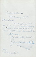 Autographs:Authors, Charles Dickens Autograph Letter Signed....
