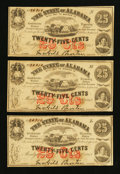 Obsoletes By State:Alabama, Montgomery, AL- The State of Alabama 25¢ (3) Jan. 1, 1863 Cr. 6. ... (Total: 3 notes)