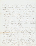 Autographs:U.S. Presidents, James Garfield Autograph Letter Signed...
