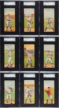 Baseball Cards:Sets, 1911 T201 Mecca Double Folder Complete Set (50). ...