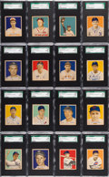 Baseball Cards:Lots, 1949 Bowman Baseball High Numbers SGC 92 NM/MT+ 8.5 Collection(16). ...