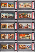 Non-Sport Cards:Sets, 1950 Topps Freedom's War Low Series (#'s 1-96) High Grade UncutPanels (48). ...