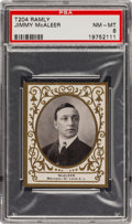 Baseball Cards:Singles (Pre-1930), 1909 T204 Ramly Jimmy McAleer PSA NM-MT 8 - Pop One, The FinestExample Known! ...
