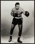 "Boxing Collectibles:Autographs, Archie Moore Signed ""145 KO"" Oversized Photograph...."
