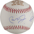 Miscellaneous Collectibles:General, Cal Ripken Jr. and Ray Lewis Dual Signed Baseball - Baltimore Legends....