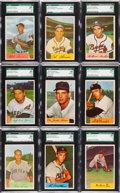 Baseball Cards:Lots, 1954 Bowman baseball SGC Graded Collection (69). ...