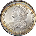 Bust Half Dollars, 1818/7 50C Small 8 MS63 NGC. CAC. O-102a, R.2....