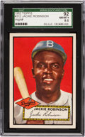 Baseball Cards:Singles (1950-1959), 1952 Topps Jackie Robinson #312 SGC 92 NM/MT+ 8.5 - The SecondHighest Awarded by SGC! ...