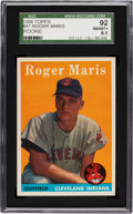 Baseball Cards:Singles (1950-1959), 1958 Topps Roger Maris #47 SGC 92 NM/MT+ 8.5....
