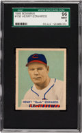 Baseball Cards:Singles (1940-1949), 1949 Bowman Henry Edwards #136 SGC 96 Mint 9 - Pop One, NoneHigher! ...