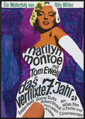 """Movie Posters:Comedy, The Seven Year Itch (Atlas, R-1966). German A1 (23.5"""" X 33"""").Comedy.. ..."""