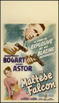 "Movie Posters:Film Noir, The Maltese Falcon (Warner Brothers, 1941). Midget Window Card (8""X 14""). Film Noir.. ..."