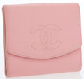 Luxury Accessories:Accessories, Chanel Pink Caviar Leather Bifold Wallet. ...