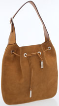 Luxury Accessories:Bags, Gucci Tan Suede and Leather Shoulder Bag with Silver Hardware. ...