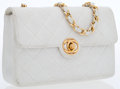 Luxury Accessories:Bags, Chanel White Lambskin Leather Mini Flap Bag with Gold Hardware. ...